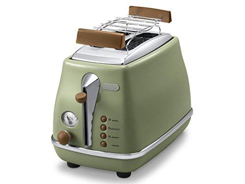 De'Longhi CTOV 2103.GR Toaster Icona Vintage, olive