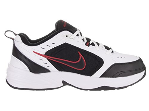 Nike leather-and-synthetic Air Monarch IV training scarpe White/Black-Varsity Red