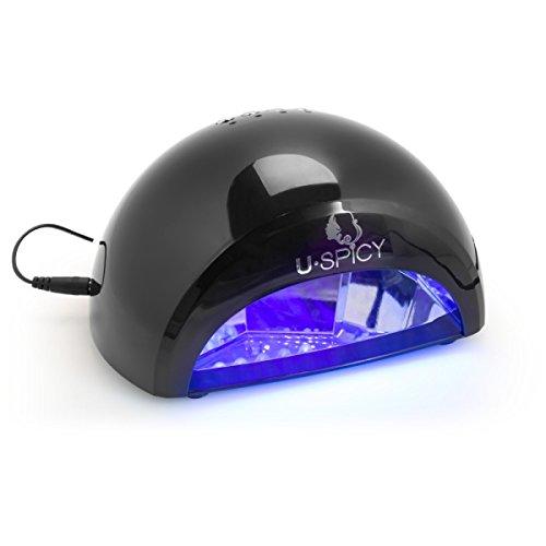 USpicy Sèche Ongles Lampe LED 12W pour Gel LED et Vernis LED avec Minuterie de 30s/60s/90s/30m - Noir(ne pas pouvoir sécher les vernis UV et vernis classique)