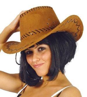Cowboy Hüte Leder (Fiestas Guirca GUI13070 - brauner)
