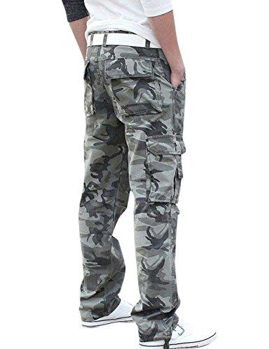 ... Menschwear Herren Cargo Hosen Freizeit Multi-Taschen Military pantaloni  Ripstop Cargo da uomo K8 tarnung ...