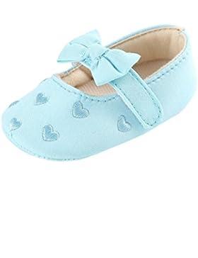 Hunpta Baby Mädchen Bogen-Knoten Canvas Schuhe Sneaker rutschfest weiche Sohle Schuhe