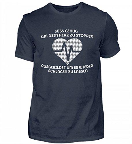 Hochwertiges Herren Organic Shirt - Krankenschwester Shirt · Geschenk für Pflegekräfte · Spruch: Süß Genug Original