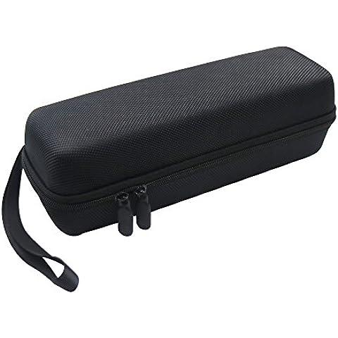 Pushingbest funda protectora estuche de protección para JBL Flip 3, con una banda elástica de seguridad y espacio libre para el cable del cargador y USB