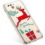 Uposao Handyhülle Huawei Honor 8 Pro Hülle Transparent Silikon Ultra Dünn Schutzhülle Durchsichtig Handyhülle Kristall Weiche Silikon TPU Handytasche Rückschale,Weihnachten Geschenk