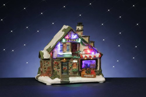 Weihnachtshaus LED 25x18cm mit Transformator Liefermenge = 1