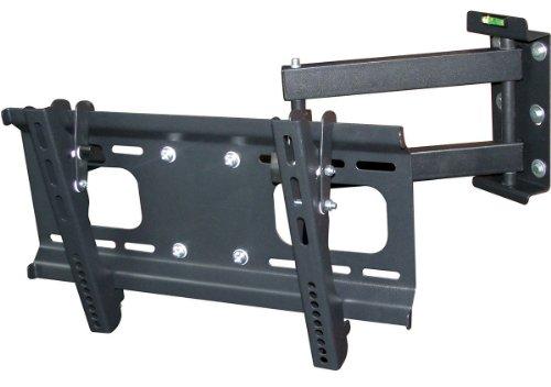 Monoprice 112278-Wandhalterung flach TV-Bildschirm (LCD, Plasma, LED)-VESA-Halterung, UL Zertifiziert Vollbeweglich 32-55 Inch Schwarz -