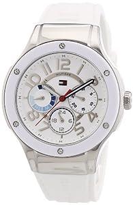 Tommy Hilfiger Watches 1781310 de cuarzo para mujer, correa de silicona color blanco