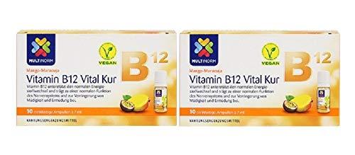 Multinorm Vitamin B12 Vital Trink-Kur Geschmack Mango-Maracuja 2x10 Stk 7ml pro Stk