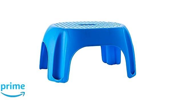 Ridder A1102603 Tabouret de Salle de Bain Bleu 30,0 x 21,0 x 39,5 cm