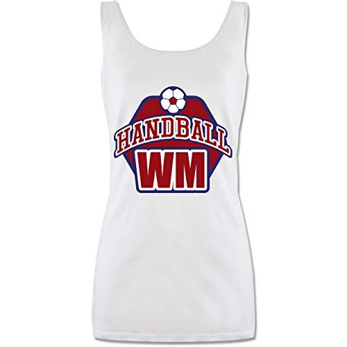 Shirtracer Handball - Handball WM 2019 - S - Weiß - P72 - Tanktop für Damen und Frauen Tops