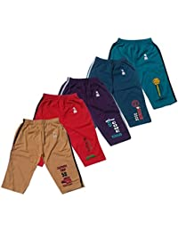 GMR Boys 3/4th Track Pant,Capri Combo Pack of 5 (55,60,65,70,75,80 cm)(Color May Vary)