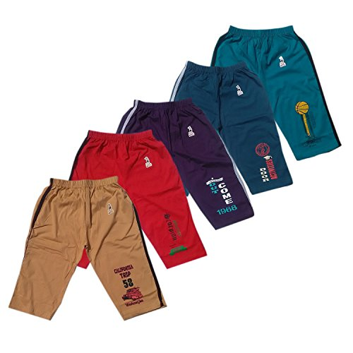 GMR Boys Shorts,3/4th Pant,Capri Combo Pack of 5 (12-15 Months)(Color May Vary)