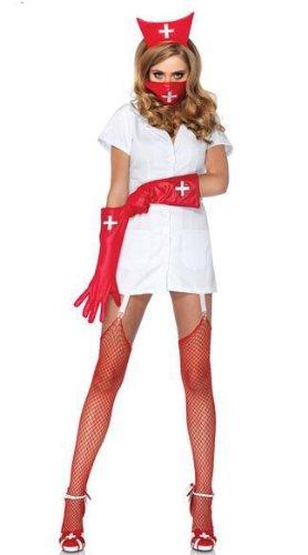 Kostüm Mörder Vampir - DLucc Krankenschwester , Krankenschwester Mörder-Halloween- Parteikostüm cosplay Kleid bar Spieluniformen sexy Krankenschwester