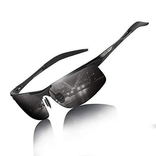 Inmorven Sportbrille,Polarisierte Sonnenbrille UV400,Fahrerbrille für Klettern Autofahren Laufen Angeln Golf Radfahren usw.