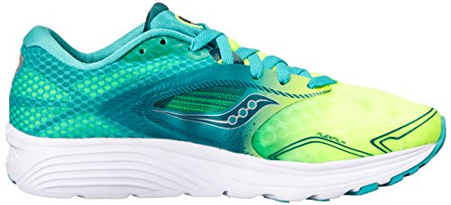 Saucony Kinvara 7, Chaussures de Running Compétition Femme Teal/Citron