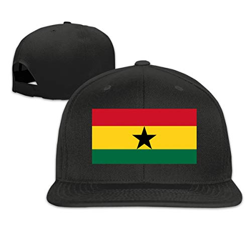 Osmykqe Ghana Flag Leichte atmungsaktive Outdoor-Laufmütze Athletic Baseball Fitted Caps für Herren - Boston Kleinkind Baseball-cap