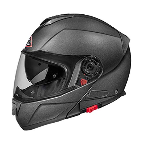 SMK GLIDE ANTHRACITE GLDA600 CLEAR VISOR PINLOCK FITTED FULL FACE, SIZE - XL/610MM