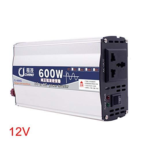 Reine Sinus Wechselrichter, 600 Watt 1000 Watt 12 V 24 V zu 220 V Wandler Transformator Netzteil, 1 AC Steckdosen Auto Wechselrichter(12V 600W) 600w Wandler