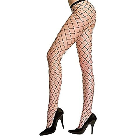 New Sexy Sheers Net Fishnet Pantyhose Tights (Black Larger Hole)