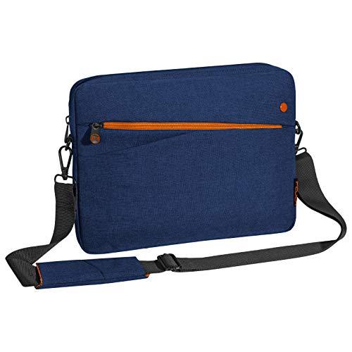 """PEDEA Tablet PC Tasche \""""Fashion\"""" für 12,9 Zoll (32,8 cm) Tablet Schutzhülle mit Zubehörfach und Schultergurt, blau"""