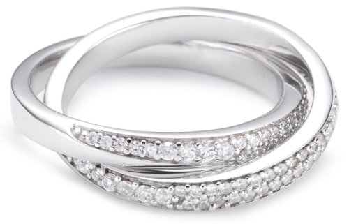 Esprit Damen-Ring love tangent double 925 Sterling Silber Gr.57 ESRG91579A180