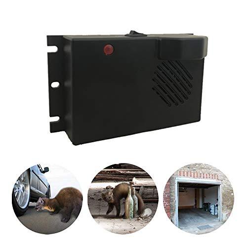 ZXX Ultraschall Ratten/Maus-Repeller, batteriebetriebener 4K-50KHz-Frequenzumrichter zur Entfernung von Nagetier-Marder-Wiesel-Pest für Haus/Auto/Garage