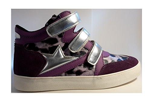 Sneakers, bottes femmes chiques, chaussures colorées femme, très élégant, modèle 11094106001101, noir-léopard ou rosé-léopard, différents modèles et tailles. Rosé-léopard.
