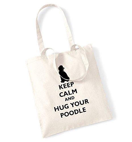 Keep Calm And Hug Your barboncino Borsa Natural