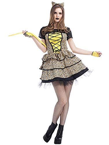 Fanessy. Sexy Catwoman Kostüm Set für Damen Cat Girl Kostüm Catsuit Frauen Leoparden Kostüm Cosplay Verkleidung Outfits für Fasching Halloween Karneval Party (Halle Berry Kostüm)