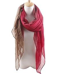 Tangda Echarpe de Châle Foulard Femme élégance Mousseline de soie polyester Longue