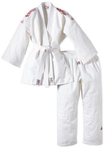 DANRHO Judogi Yamanashi mit Schulterstreifen, weiß, 160, 339000160