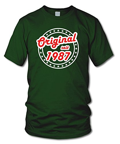 shirtloge - ORIGINAL SEIT 1987 - KULT - Geburtstags T-Shirt - in verschiedenen Farben & Größen Dunkelgrün