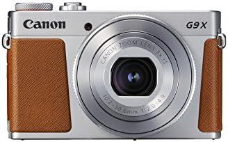 Canon PowerShot G9 X Mark II Kompaktkamera (20,1 Megapixel, 7,5 cm (3 Zoll) Display, WLAN, NFC, 1080p, Full HD) silber