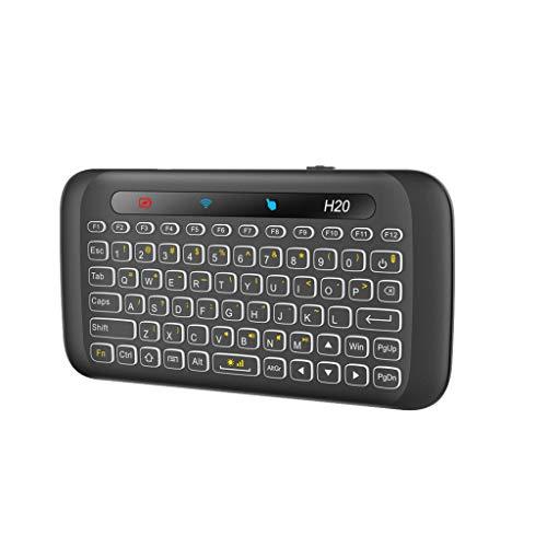 VICKY-HOHO Mini Maus kabellos Wireless Mouse Optische Mäuse -G13 2.4G USB Mini drahtlose Tastatur mit eingebauter Trackball-Maus für PC (schwarz) -