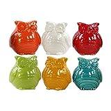 Urban Trend Kollektion 28100-ast Keramik Figur EULE Sortiment von sechs verschiedene Farben
