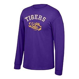 Elite Fan Shop LSU Tigers Long Sleeve Tshirt Purple - 2XL