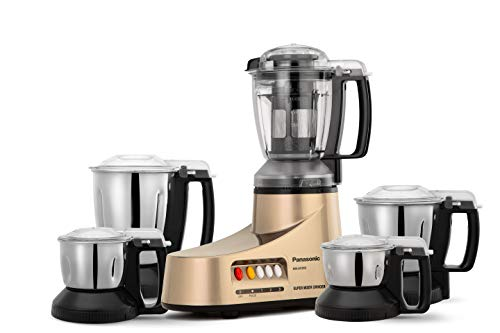 Panasonic AC MX-AC555 550-Watt Super Mixer Grinder with 5 Jars (Bronze)