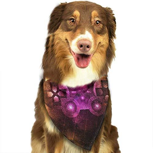 Gxdchfj Pet Dog Scarf Video Game Controller Art Washable Dog Puppy Triangle Bandana Bib Babys Neckerchief Accessories (Kostüm Controller)