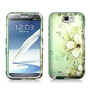 "Samsung Note II (Note 2) N7100 Snap-on Protector Hard Case Image Cover ""Garden Green"" Design"