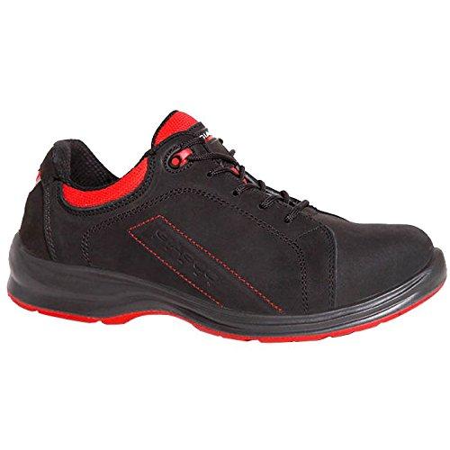 Giasco 93N25C36Rugby scarpe di sicurezza Basso S3Nero/Rosso, Multicolore, 93N25C47