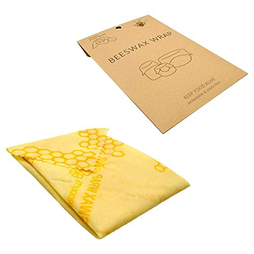 Coogel Reusable Beeswax Wrap Organic Eco Bees Wax Food Wraps DIY Cling Cloths Natural Storage Wrappers Recycled Security Protection Safety Keeps Fresh Grade Cloth Fruit Bag
