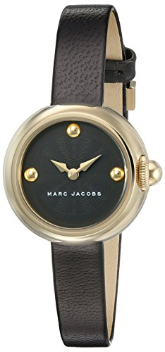 Marc Jacobs-Orologio da donna al quarzo con Display analogico e braccialetto MJ1432, in pelle, colore: nero