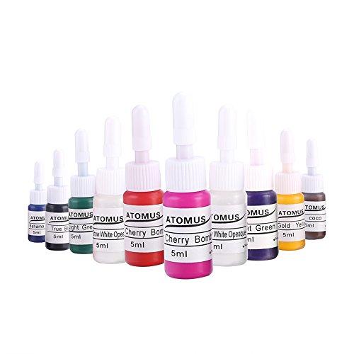 10 Grundfarben Tattoo Ink Set Körperfarbe Pigment Kit Professionelle Pernament Make-up Tattoo Ink Versorgung Microblading Tinte