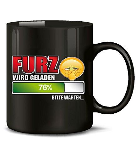 urz Wird geladen Bitte warten 4546 Handwerker Kollege Arbeit Becher Kaffeetasse Arbeitskollege Kacken Pupsen Scheisse Love Liebe Schwarz ()