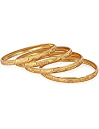 Jewels Galaxy Well Crafted Gold Plated Set Of 4 Bangles