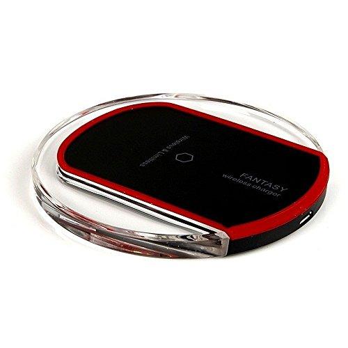 GiXa Technology Qi Ladegerät Drahtlos Aufladen Wireless Charging Kabellos Ladestation Empfänger Receiver Qi Pad (Qi Ladegerät, Schwarz) (Nic-station)