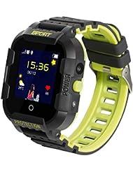 JBC GPS-Telefon Kinder Uhr Kleiner Weltentdecker Wasserdicht OHNE Abhörfunktion, SOS+Notruf+Telefonfunktion, Live GPS+LBS Positionierung, funktioniert weltweit, Anleitung+App+Support auf deutsch