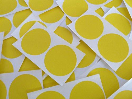 Minilabel - Puntos adhesivos (50 unidades, diámetro 50 mm), color amarillo y blanco