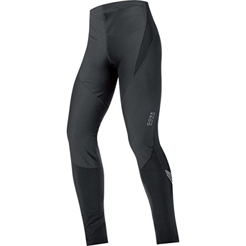 Gore Bike Wear Herren Lange Soft Shell Thermo-Fahrradhose, GORE WINDSTOPPER, Tights, Größe: S, Schwarz, TWELEM (Reflex-shell)